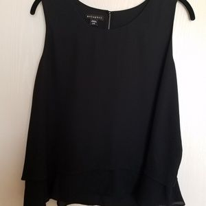 Women's Sleeveless Cropped Layered Top; Size L/G.